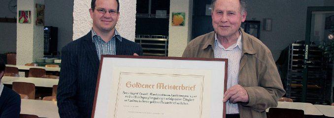 Goldenen Meisterbrief für Rupert Gründl