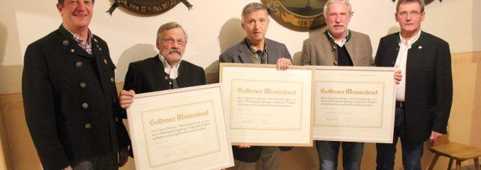 GOLDENE  MEISTERBRIEFE  Schreiner-Innung
