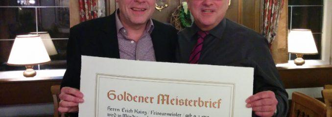 Goldenen Meisterbrief für Erich Kainz