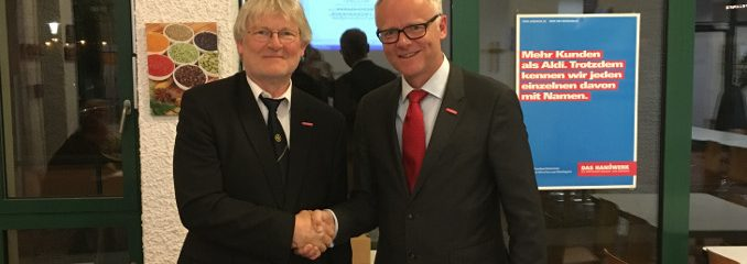 Kreishandwerksmeister Gerhard Schloots wiedergewählt